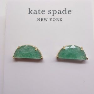Kate Spade New Mint Semi-Circle Earrings